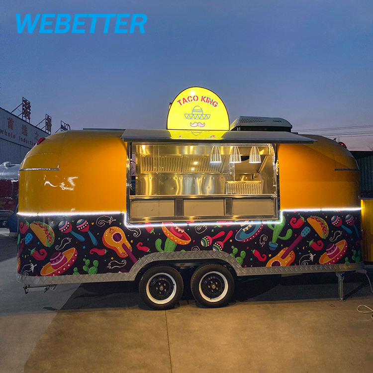 Webetter Airstream Trailer Mobile Kitchen Food Truck Food Trailer, Catering Food Vans