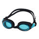 Adult Triathlon Swim Goggles, Nose Piece Replaceable Swimming Goggles with Flat Lens, Anti-Fog UV Protection Leak-Proof