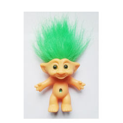 Hot selling 10cm multiple color selection customized troll doll hair for kids