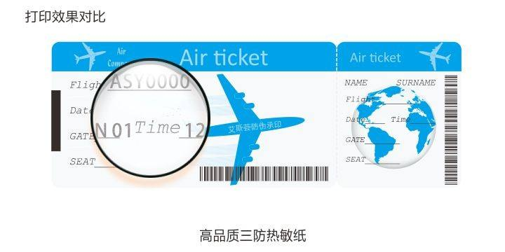 Thermische Printer Wit Airlines Ticket Met Barcode En Qr Code