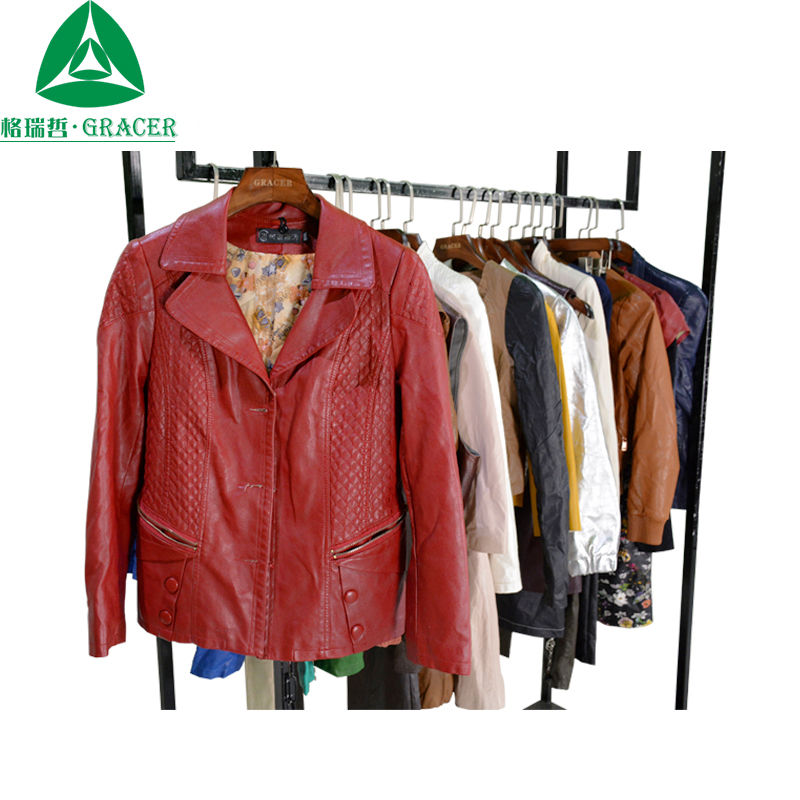 Korean Used Clothes Sorted Bundle Leather Jacket Unsorted Second Hand Clothes