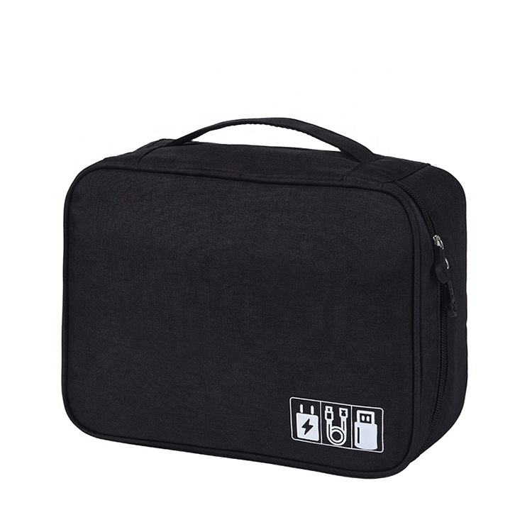 New style waterproof 300D polyester electronic accessories organizer USB charging cable storage bag