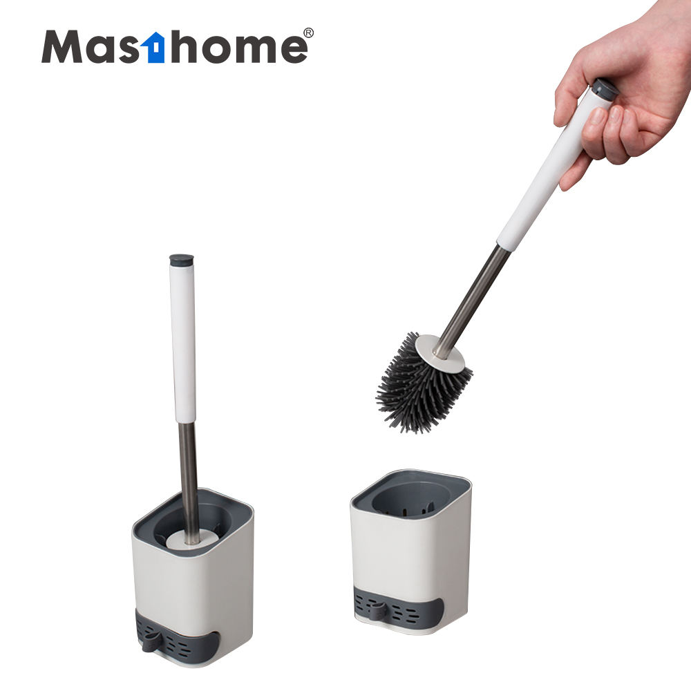 Masthome New type TPR silicone Toilet Brush For Bathroom Cleaning With Holder Set