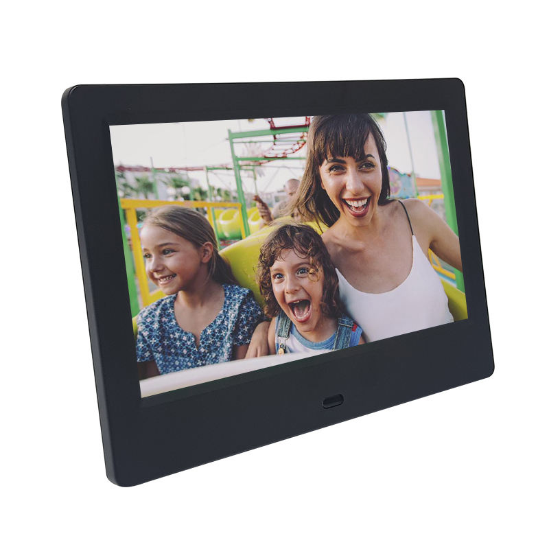 2019 new model 7inch digital photo frame 1024*600 high relsution play video/photo/music/calendar Shenzhen factory