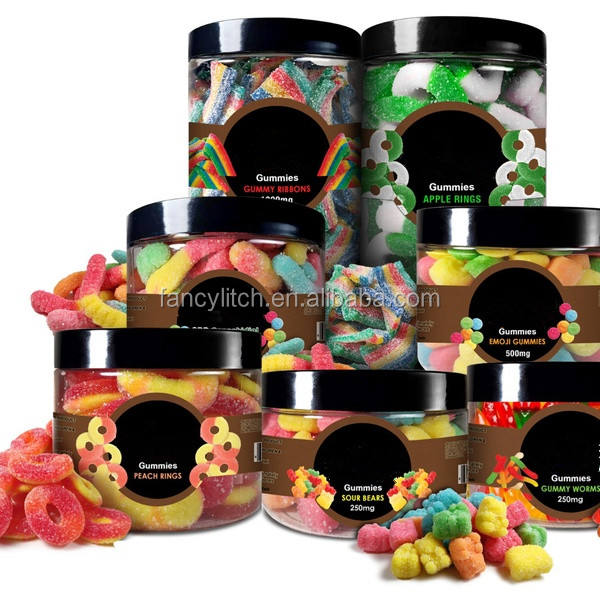 USA Made Hot Selling Private Label Isolated CBD Vegan Gummies Bear Watermelon Flavors