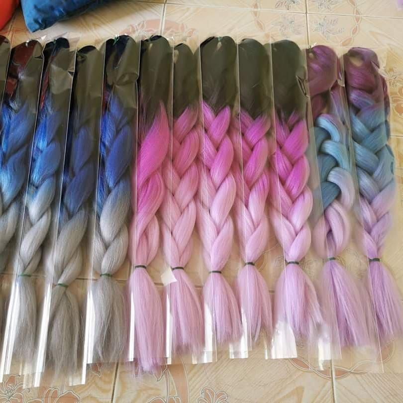 3 Stück für $1 Jumbo Braid Ombre Expression Braids African Extension Crochet Curly Synthetic Braid ing Hair