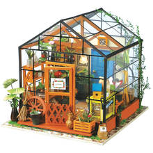 ROBOTIME DIY Miniature Dollhouse Kit with LED for Gift