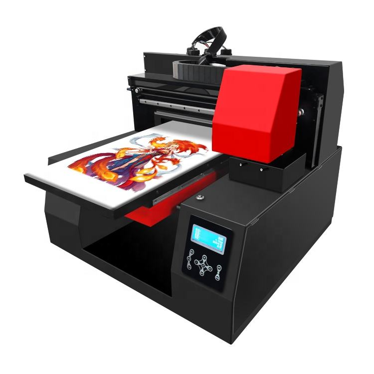 DTG Printer Direct To Garment A3 Digital Double Head 12colors T-shirt Printing Machine Factory With Free Sampling Service