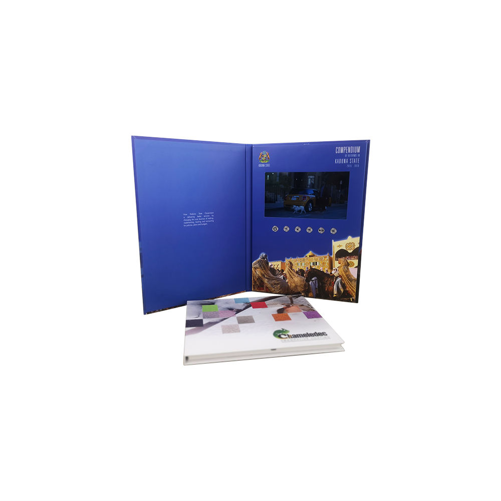 LCD screen high quality video brochure card/ Digital video book/video mailer
