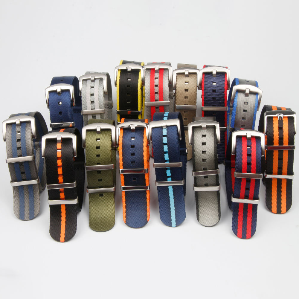 20mm 22mm Nylon Business Casual NATO Straps hot sale watch bands new nylon watch straps