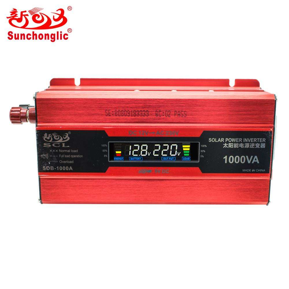 Sunchonglic 1000w 12v inverter 220v modified sine wave 1000va solar power inverter