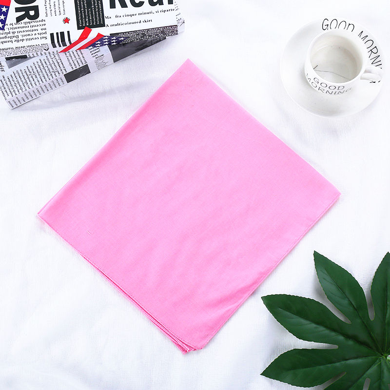 Fanni Factory Price Wholesale 100% Cotton Plain Bandana Solid Colors Square Head Scarf In Stock