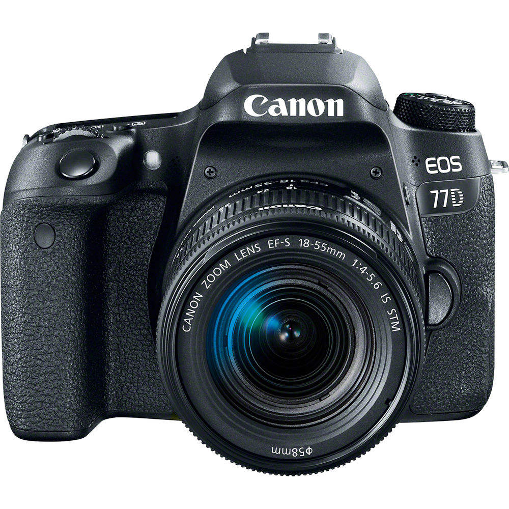 <span class=keywords><strong>CANON</strong></span> eos <span class=keywords><strong>DSLR</strong></span> Camera com EF-S 77D 18-55mm F4-5.6 IS STM Lens