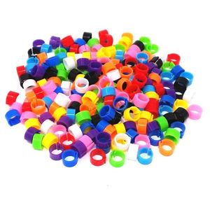 100 Pcs Multicolor 8mm RFID Leg Rings Chicks Bantam Quail Finch Small Poultry Foot Clip Chicken Bird Rings