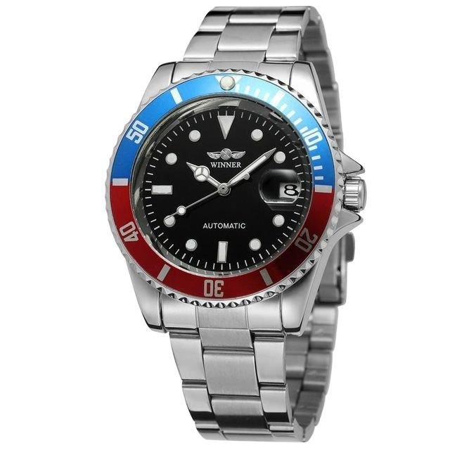 WINNER 8066 Automatic Mechanical Watch Military Sports Watches Men Watch Quartz Wristwatch Stainless Steel Relogio Masculino