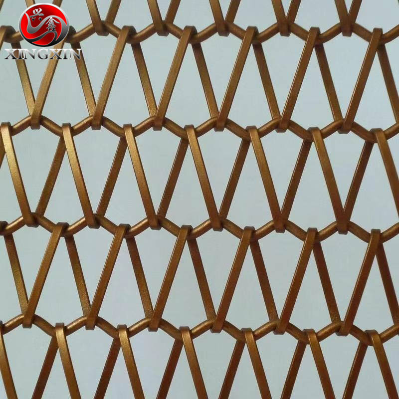 stainless steel spiral link decorative conveyor bele mesh curtain