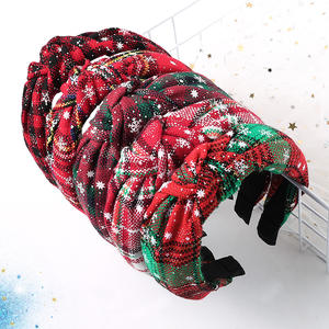 2019 Hot selling amazon headband Hair Decorations Christmas headband for Christmas accessories