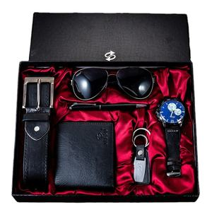 In stock 6piece gift set mens gifts simple and exquisite business wallet key buckle gift set for men