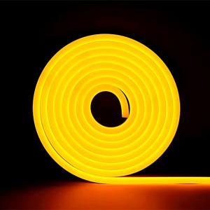 DC12V 6Mm 8Mm 2.5Cm 1Cm Cuttable Lemon Warna Kuning Led Neon Strip