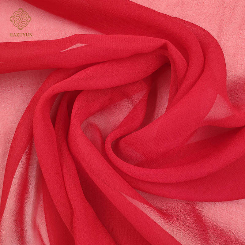 6mm Hot selling 100% silk georgette custom dyed fabric for ladies