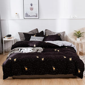 Home Decorative 80GSM Wapiti Printed Microfiber Polyester Designer Duvet Cover Bedding Collections