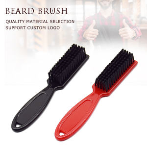 plastic handle cleaning small hair and beard fade brushes for men acceptable custom logo