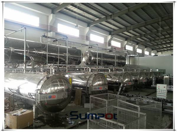 Commercial Sterilizer Commercial Horizontal Canned Mushroom Autoclave Sterilizer