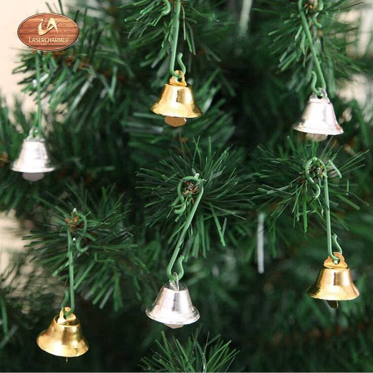 wholesale 2cm mini gold and silver metal jingle bells hanging ornaments for christmas/party /festival decoration