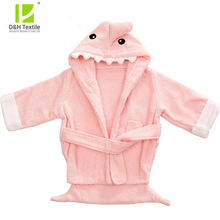 Custom Baby Robe Hoodies Sleepwear Girl Kids Cartoon Soft Children's Clothing Shark Bathrobe