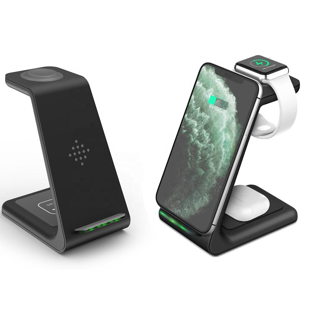QI 10W Fast Charge For iPhone Pro Charger Dock For Apple Watch 5 4 Airpods Pro Wireless Charge Stand 3 In 1 Wireless Charger