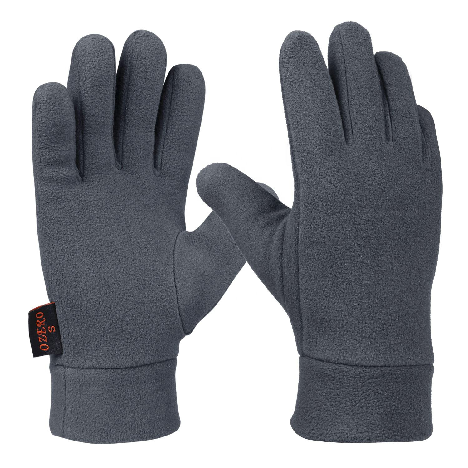 Ozero 100% Polar Fleece Thermal Winter Hand Wears Gloves For Cold Weather Driving Hiking Snowing Running Cycling .