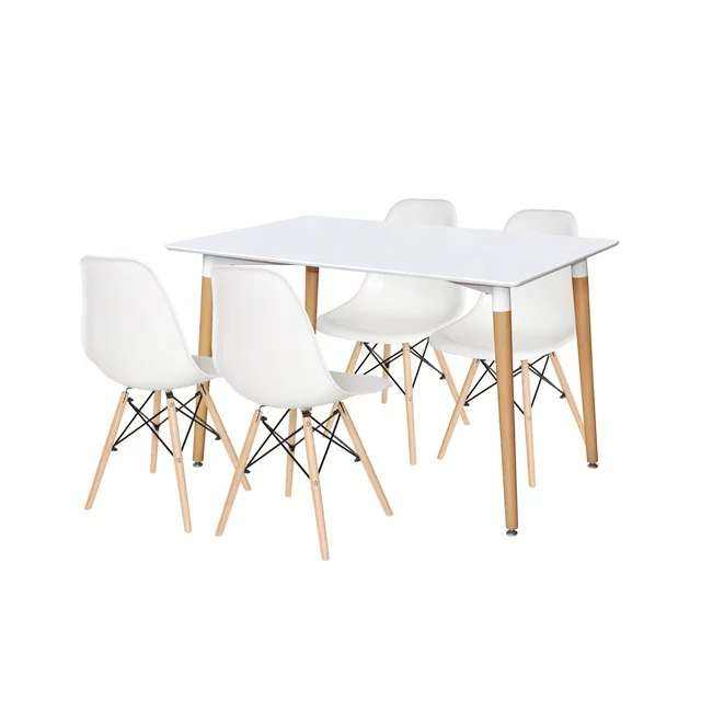 Good price home furniture 4 Seater Dining Table Set simple modern design Dining Chairs and Table