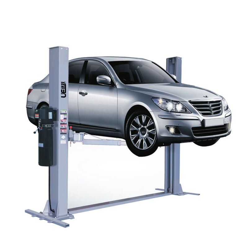 car lifts two post vehicle hoist with CE certification manual release floor plate car lift double cylinder hydraulic UE-8235PD