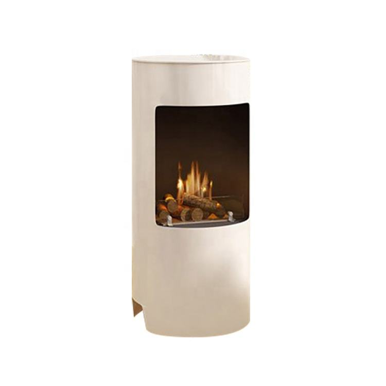 New Style outdoor stainless steel ceramic fire log ethanol fireplace