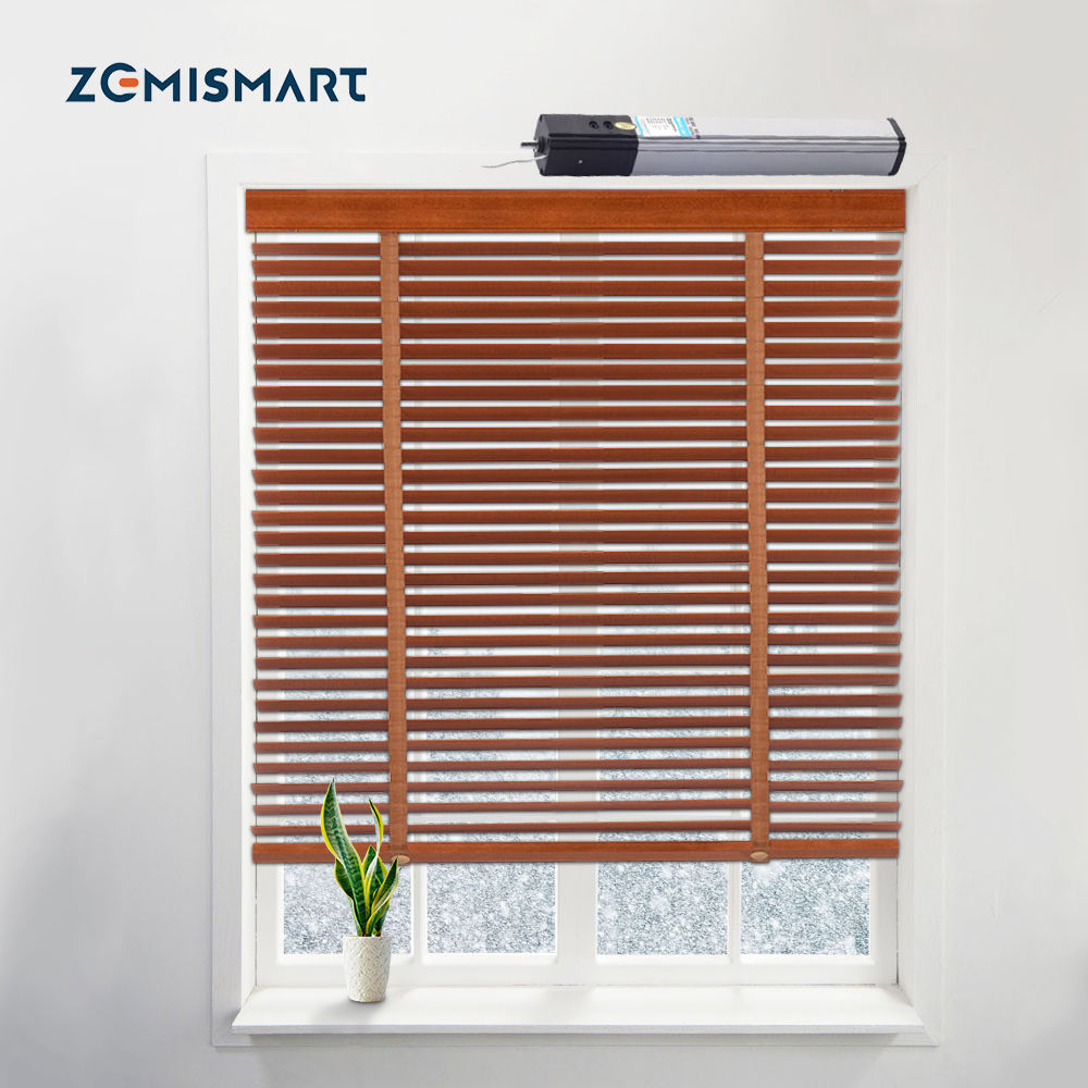 Zemi smart Electric Blind Smart Shutters <span class=keywords><strong>Jalousien</strong></span> <span class=keywords><strong>Holz</strong></span> Tuya Smart Life Alexa Googl Home Control motorisierte <span class=keywords><strong>Jalousien</strong></span>