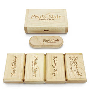 JASTER free custom logo laser engraving wooden+Box pendrive 4GB 8GB 16GB 32GB 64GB USB Flash Drive photography gift