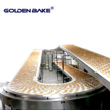 Golden Bake customized 90 /180 degree turning conveyor for biscuit production line