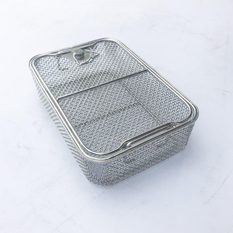 Stainless Steel Sterilizing Baskets Wire Mesh For Medical Instrument Cleaning Baskets