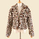 Fashion Clothes Leopard print Soft Faux Rabbit fur coat for women winter warm