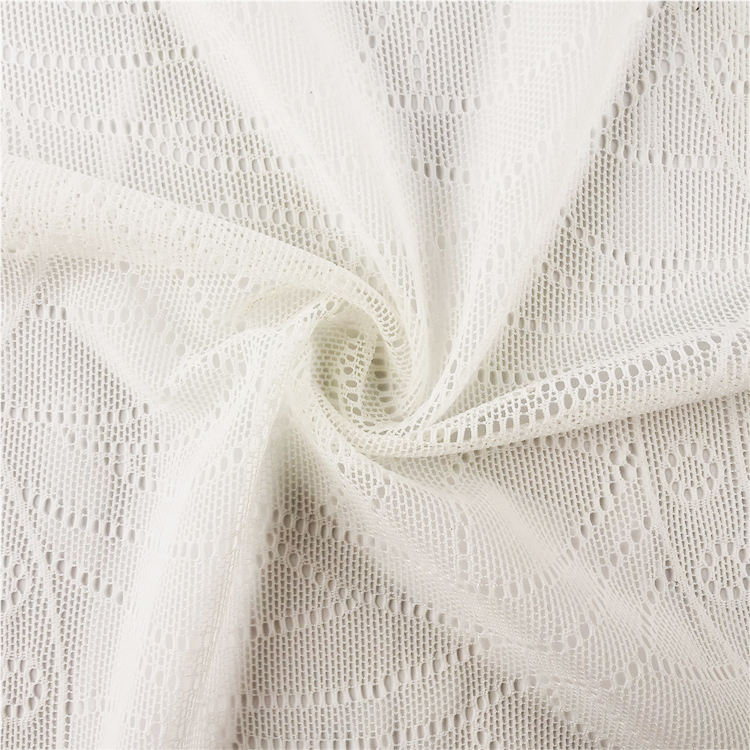 Breathable Knitted Knit Spandex Jacquard Fabric Stretch Jacquard Spandex Fabric