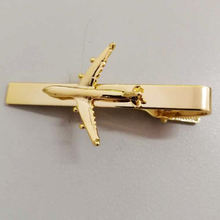 wholesale custom aircraft and airplane metal tie clip blank stainless and airplane tie bar