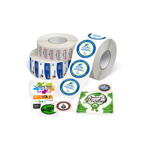 High Quality Custom Self Adhesive logo Stickers Labels Custom Labels on Roll Printing Labels