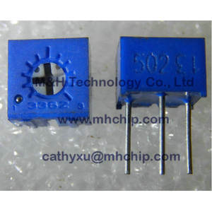 3362P-1-502LF Trimmer 5 Kohms 0.5W 1/2W PC Pins Through Hole Trimmer Potentiometer Cermet 1 TURN TOP ปรับ