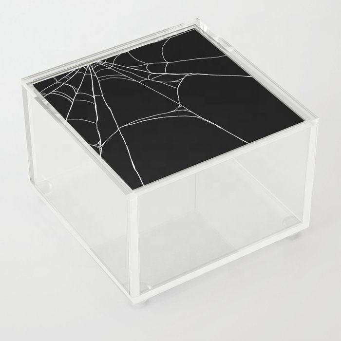 High-Quality wholesale spiderweb square acrylic storage boxes popular with the young