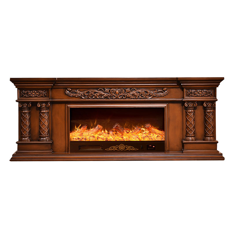 wholesale price electric fire 3d with modern white wood mantel fireplace