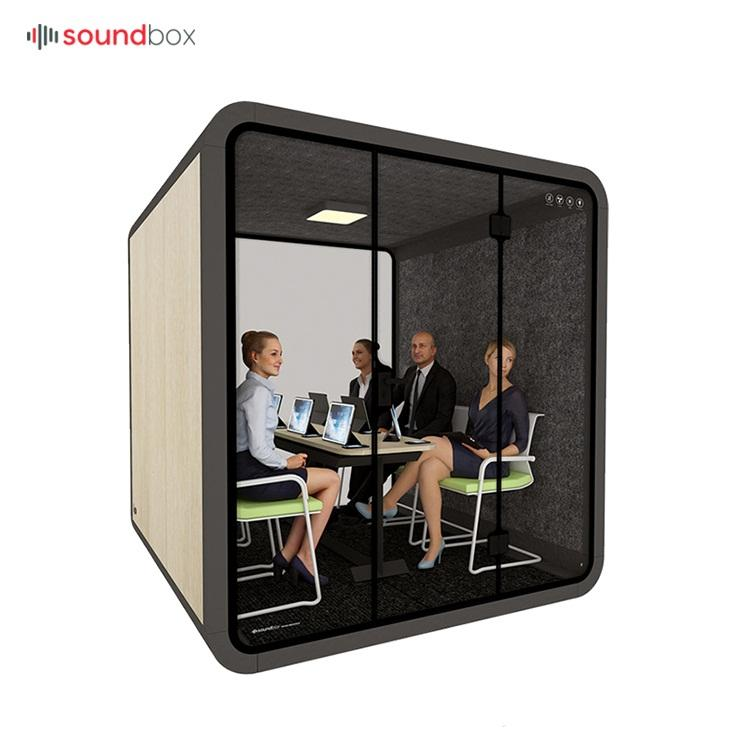 Soundproof modular office workstation work booth acoustic pod for recording use