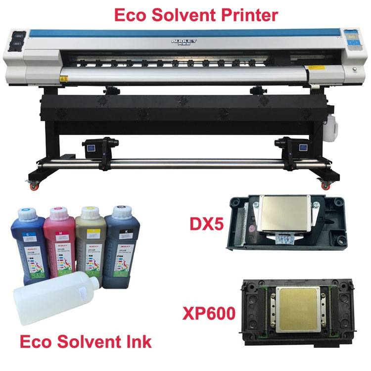 Harga Industrial Digital Printer Format Besar Xp600 Dx7 Dx5 Eco Pelarut Tinta Cmyk Tinta PRINTER