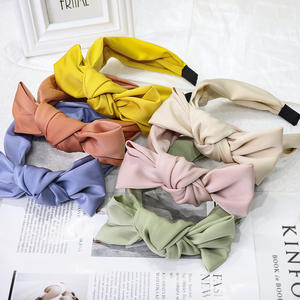 HB439A Factory Wholesale Hair Accessories Fashion Solid Color Large Size Bow Girl Headband Korean Hair Accessories For Women