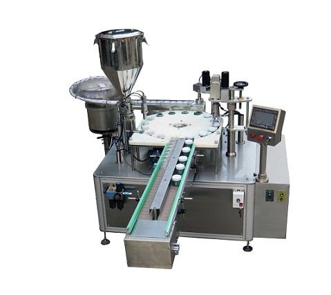 Automatic Pigment filling and capping machine for paint cup