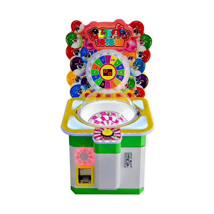 Threeplus coin operated lollipop gift game with light for maquina vending mall